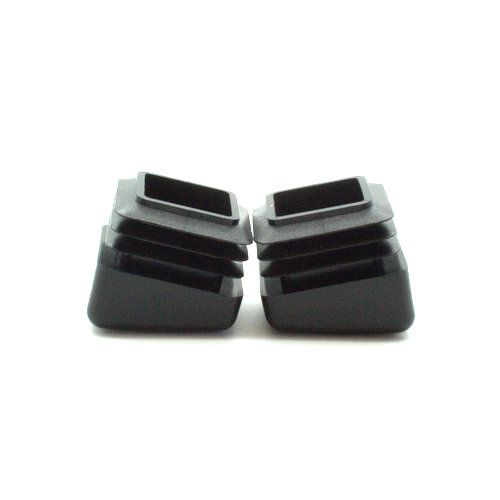 Square Angled Insert Feet For Tubular Legs 15mm 25mm